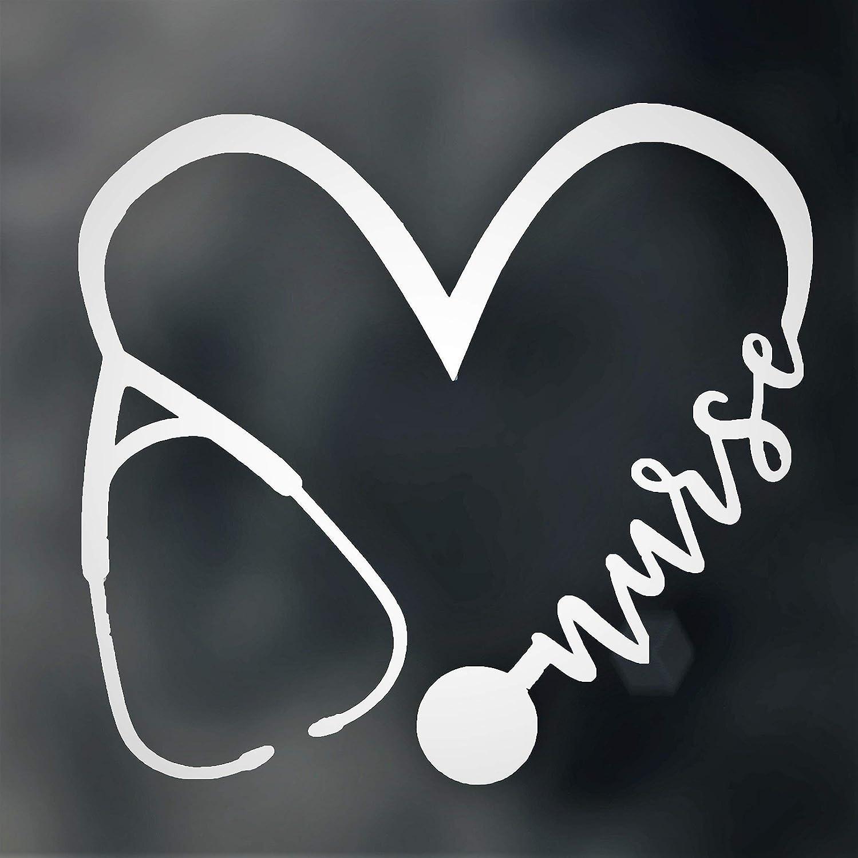 Stethoscope Nurse EKG Heartbeat Vinyl Decal