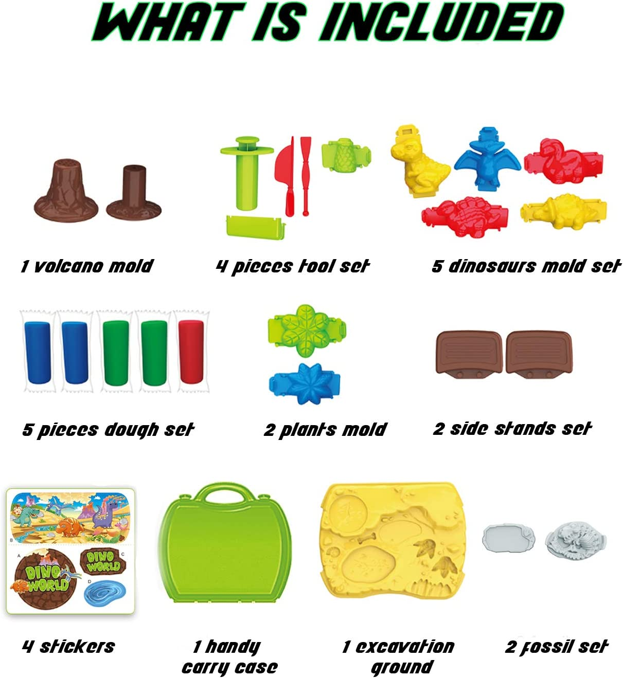 For Boys and Girls Age 3-12 Years Old Safe /& Non Toxic 3D Dinosaur Figures for Kids Magic Modeling Clay 26 Pieces Clay Dinosaur Toys Set for Kids