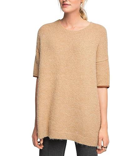 ESPRIT Collection kuschelig weiche Qualität-suéter Mujer    Braun (CAMEL 230) 42