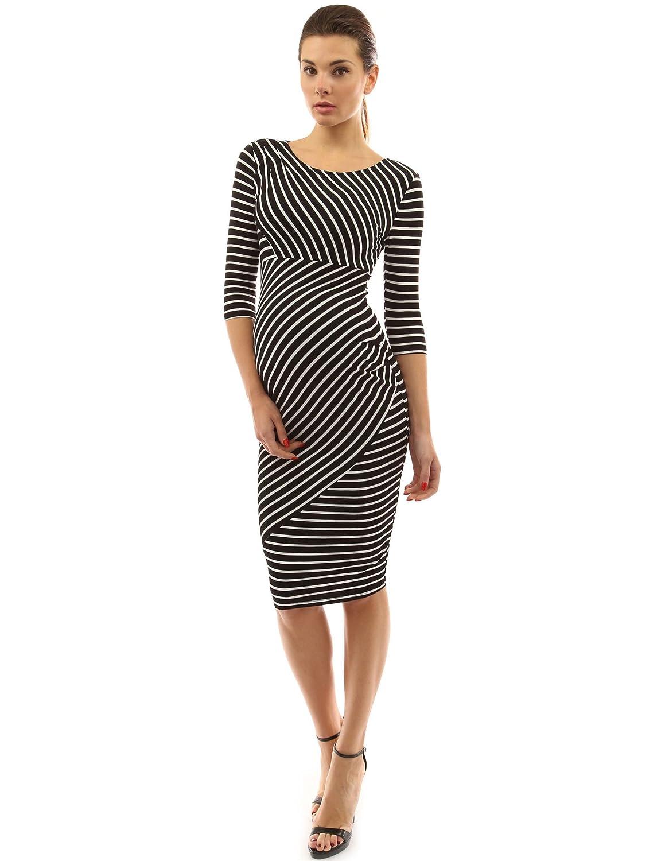 Maternity dresses amazon pattyboutik mama striped elbow sleeve maternity dress ombrellifo Images