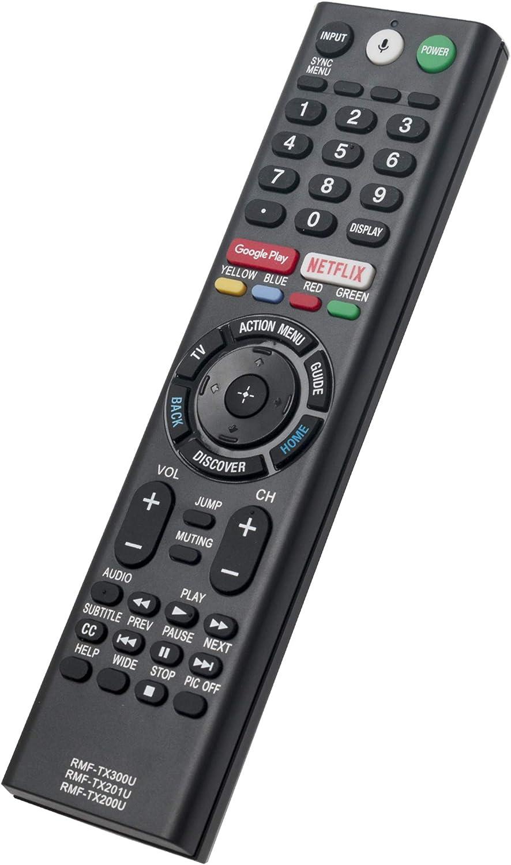 RMF-TX300U RMF-TX200U RMF-TX201U Replaced Remote fit for Sony Smart TV LED 4K Ultra HDTV XBR-43X800E XBR-49X800E XBR-55X800E XBR-55X806E XBR-65X850E XBR-75X850E XBR-43X800D XBR-49X800D XBR-55X850D