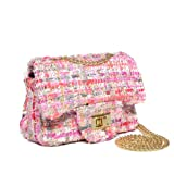 aa9395a56 CMK Trendy Kids Glitter Toddler Purse for Girls Sparkly Quilted Little Girl  Purses (Fancy pink)
