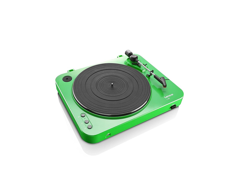 Lenco L-85 Color Verde Tocadiscos con USB