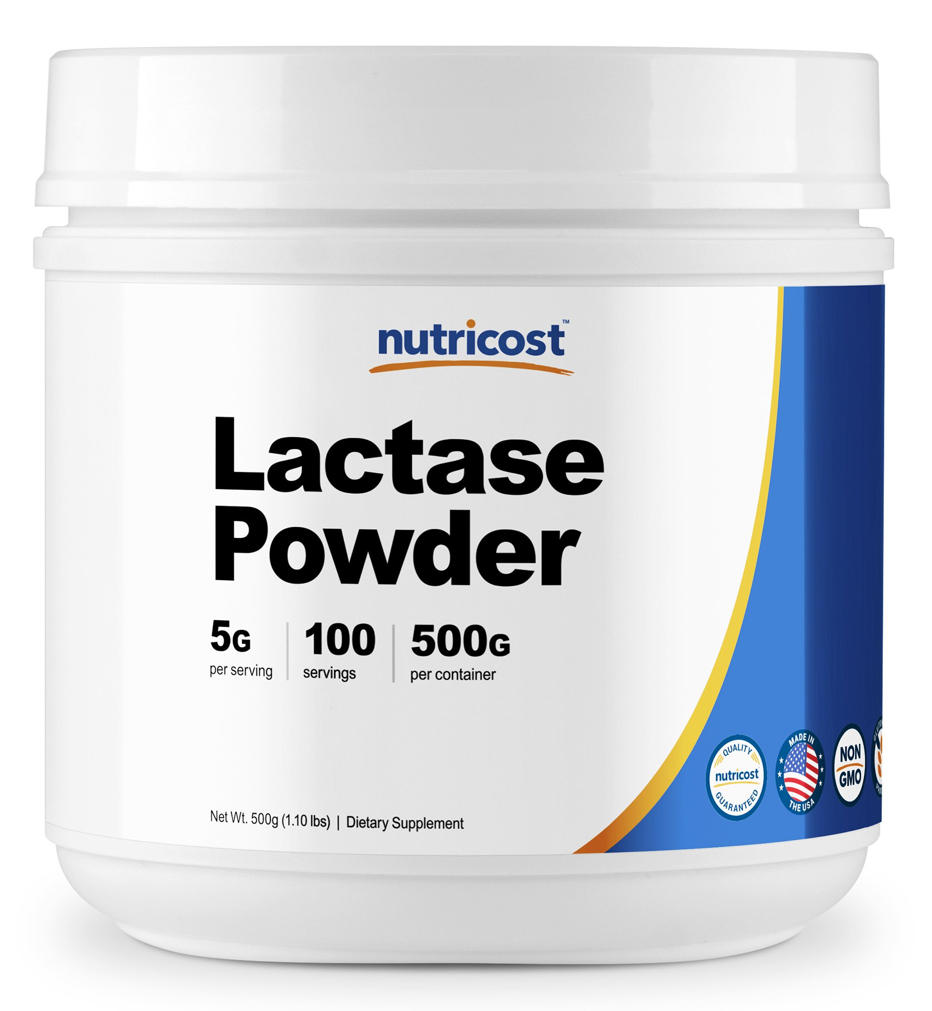 Nutricost Lactase Powder 500 Grams - Pure, Non-GMO, Gluten Free, High Quality Lactase Powder