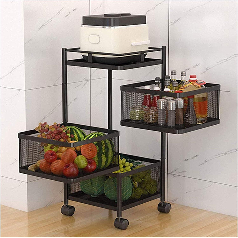 Vast Storage Shelf Kitchen Rotating Vegetable Rack Floor Standing ...