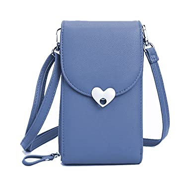 b46afbb5f0 Small Crossbody Bags Cell Phone Purse Wallet Leather Pouch Card Houlder  Shoulder Strap Handbag Women Girls