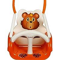 WonderKart Panda Baby Swing - With Multiple Age Settings | 4 Stages - (Orange)