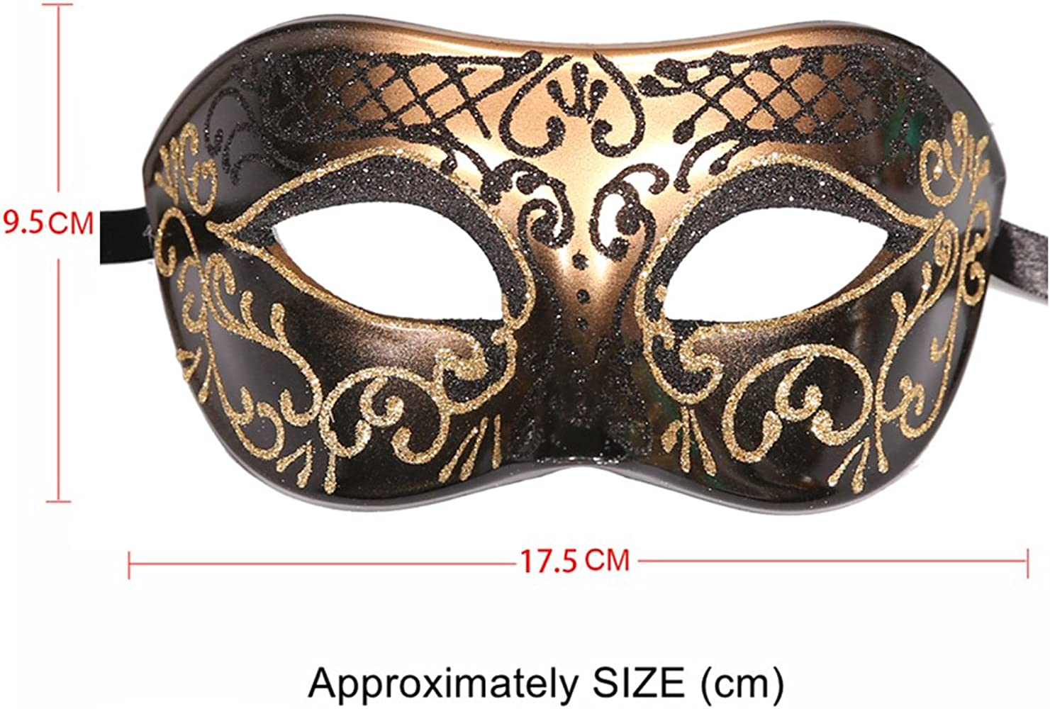 HIS N HERS GLAMOUR MIDNIGHT BLACK VENETIAN MASQUERADE PARTY CARNIVAL MASKS NEW