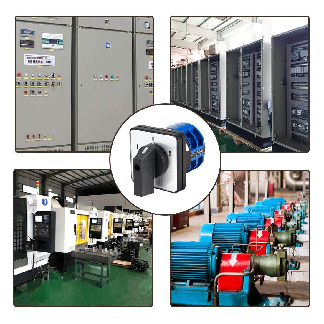 VictorsHome Changeover Switch LW28-20 3 Positions 8 Terminals Universal Rotary Cam Selector Latching Switches 550V 20A
