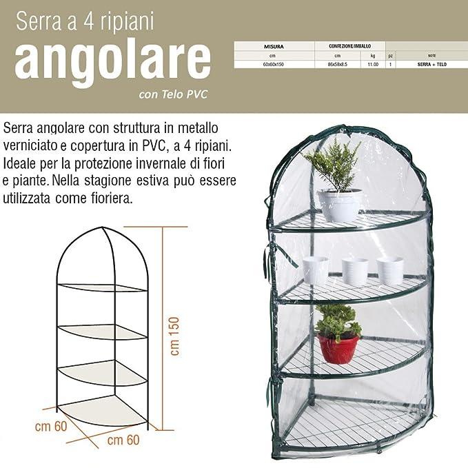 """2 opinioni per Nuova Serra Angolare 4 Ripiani (""""L""""60 x """"P"""" 60 x """"H"""" 150 cm)"""
