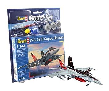 Revell - Maqueta modelo set F/A-18E Super Hornet, escala 1 ...