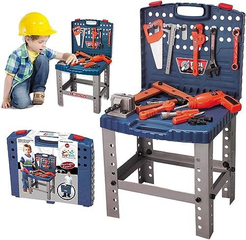 68 Piece Kids Toy Workbench
