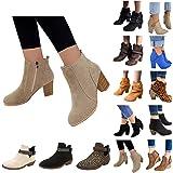 Women's Pointed Toe Zipper Block Heel Ankle Chelsea Boots Elegant Women's Shoes Slip On Boots Women's Pumps Half Boots