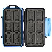 Flashwoife Turtle-SD12MSD24 spritzwasserdichte Speicherkarten Schutzbox, patentierte Aufnahme, 12 Stück SDHC und 24 Stück MicroSD Cards Case, schwarz