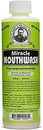 Uncle Harry's Natural Alkalizing Miracle Mouthwash | Organic Adult & Kids