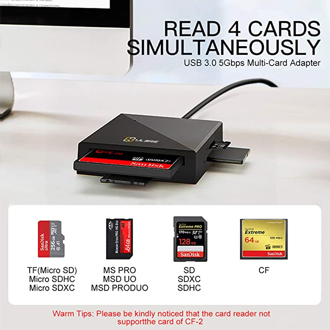 SanFlash PRO USB 3.0 Card Reader Works for Samsung SM-A320F Adapter to Directly Read at 5Gbps Your MicroSDHC MicroSDXC Cards