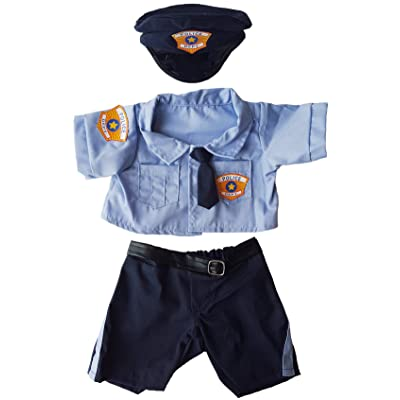 "Police Uniform Outfit Teddy Bear Clothes Fits Most 14"" - 18"" Build-a-bear and Make Your Own Stuffed Animals : Toys & Games"