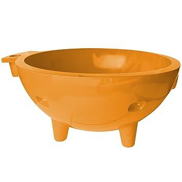 ALFI Brand FireHotTub OR Round Fire Burning Portable Outdoor Fiberglass  Soaking Hot Tub, Orange