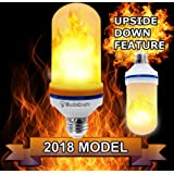 LED Flame Effect Light Bulb, E26 LED fire light bulbs have simulated flickering flame tiki torch effect for home, patio, restaurant, bar, or festival decorations