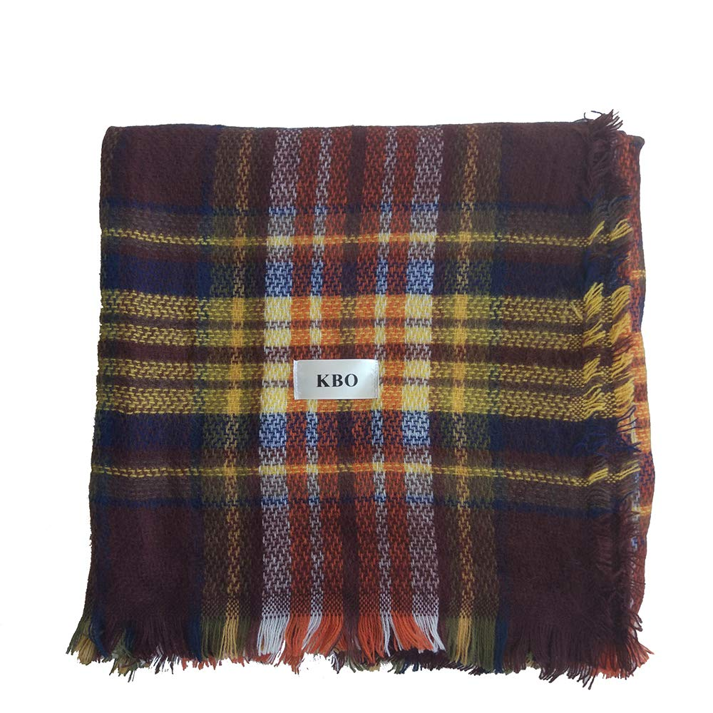 KBO Woman's Eternal Style Scarf, Classic Elegant Carpet Lattice Scarf