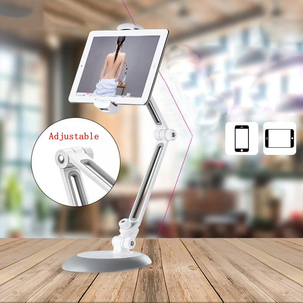 Color : Silver Adjustable Laptop Stand Desktop Lazy Mobile Phone Flat Bracket Aluminum Alloy Can Be Freely Retractable for Office and Home