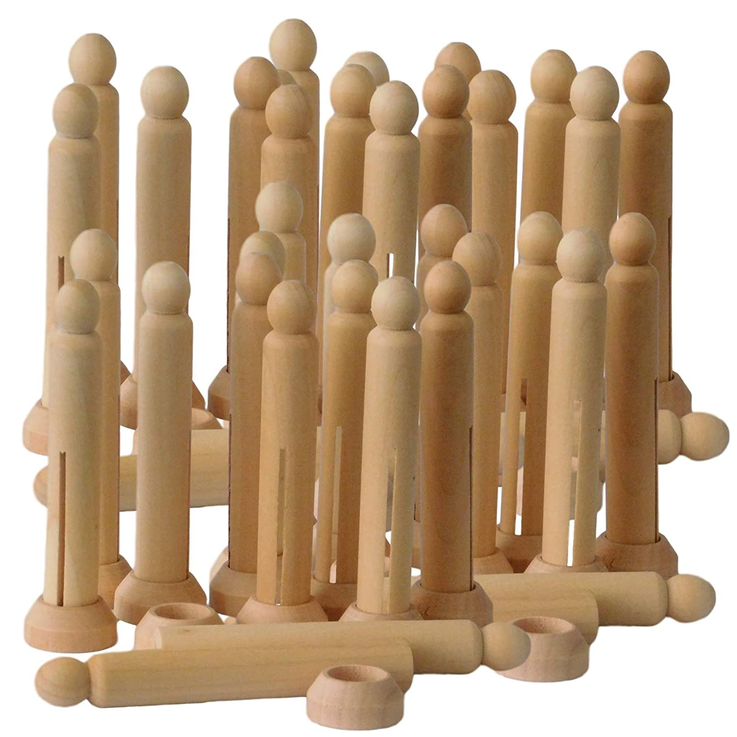 Dolly Pegs with Stands Bulk Pack Amazing Arts and Crafts