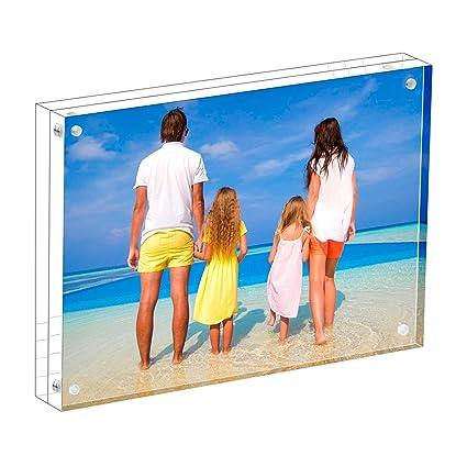 Amazon Meetu Acrylic Picture Frame 4x6 Clear Freestanding