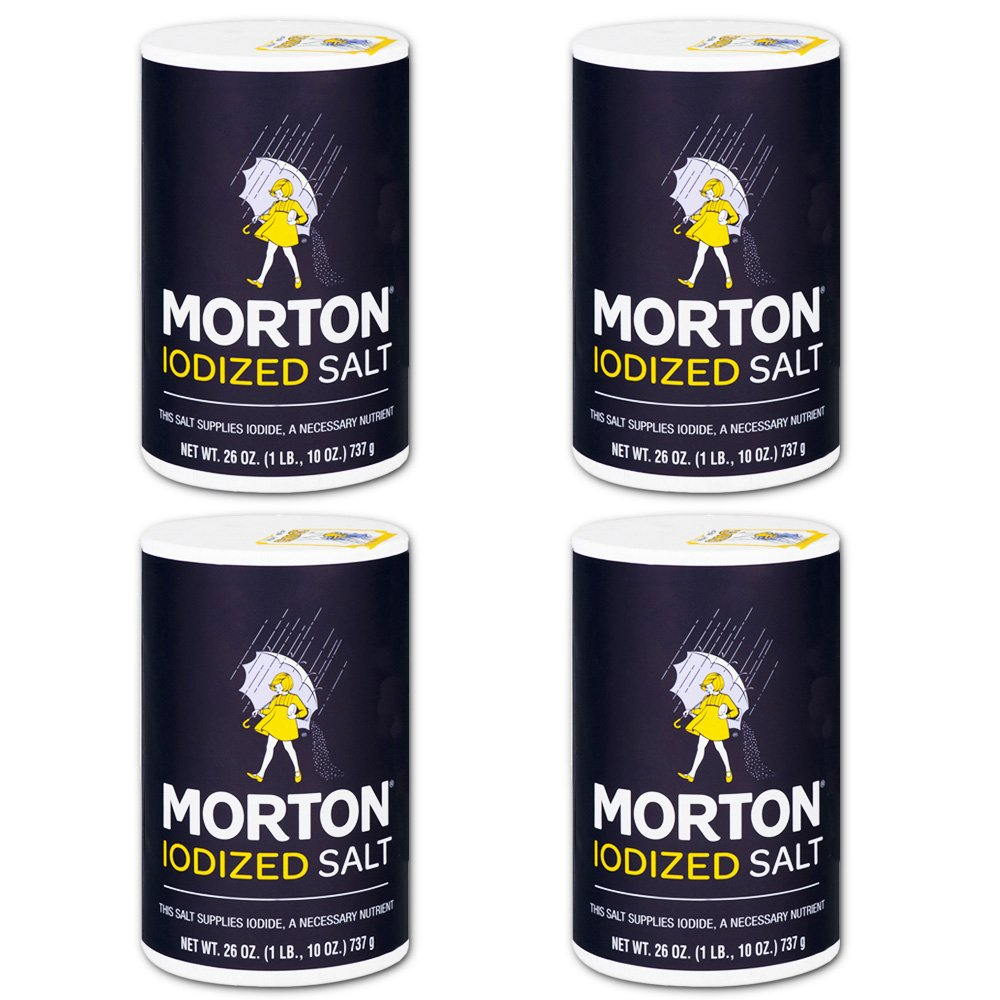 Morton Iodized Salt, 26 oz, Pack of 4 by Morton (Image #1)