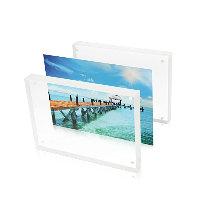 4X6 Double Sided Picture Frame - Magnetic Clear Acrylic Photo Frames ...