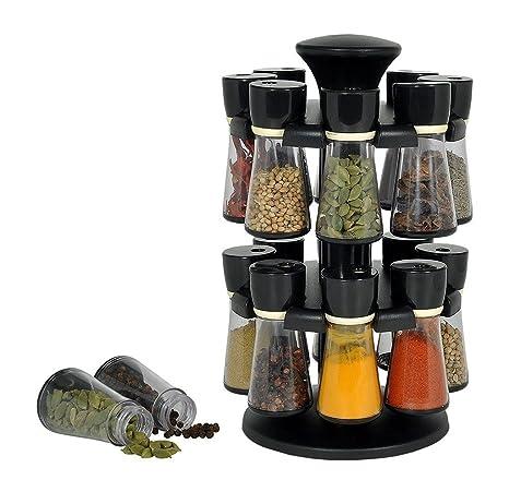 Buy Kitchen Bazaar 16 Jar Multi Purpose Revolving Spice Rack Masala