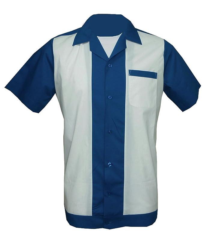 1950s Men's Clothing 1950s/1960s RockabillyBowling Retro Vintage Mens Shirt £22.99 AT vintagedancer.com