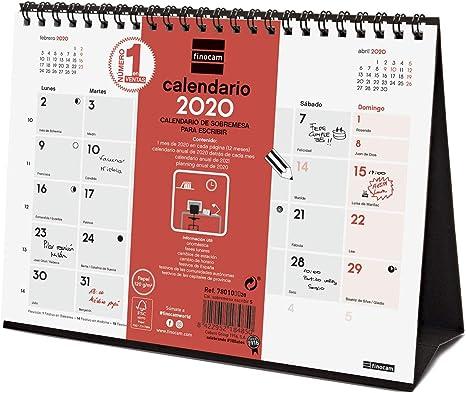 Finocam - Calendario de sobremesa 2020 Escribir español: Amazon.es ...