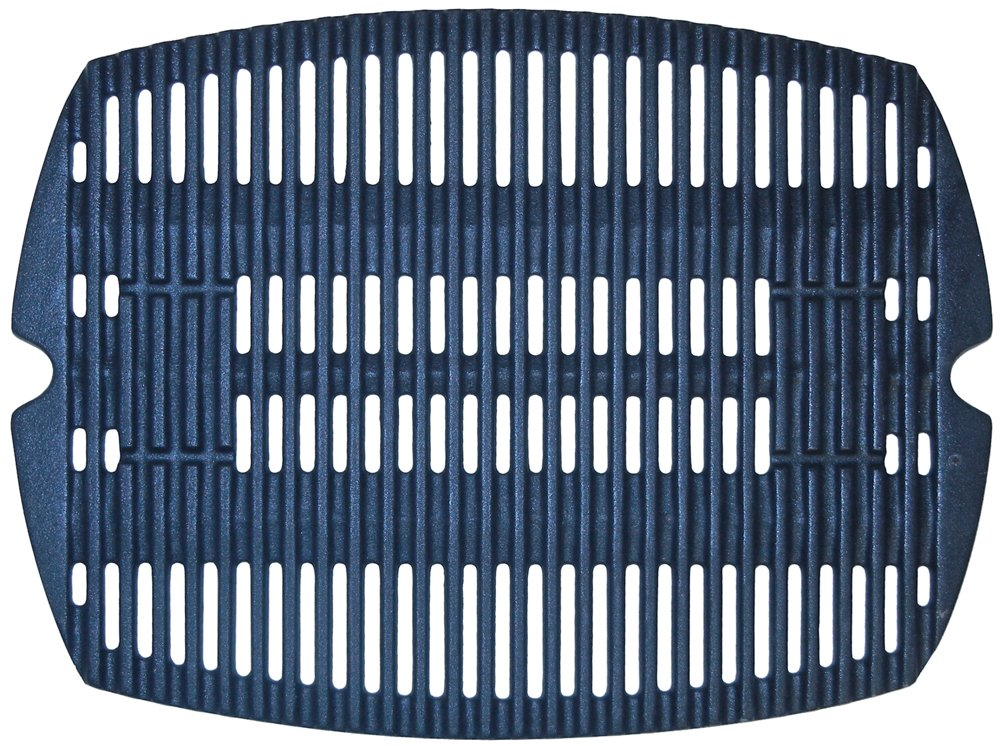 Music City Metals 63811 Matte Cast Iron Cooking Grid Replacement for Gas Grill Model Weber Q100