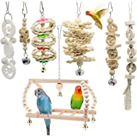 Holahoney Bird Chewing Toys, Bird Parrot Swing Chewing Toys-Hanging Rattan Toy Balls Bird Cage Toys Suitable for Small…