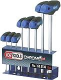 KS Tools 158.8130 ERGOTORQUEplus T-Griff-Innensechskant-Schlüssel-Satz, 8-tlg.