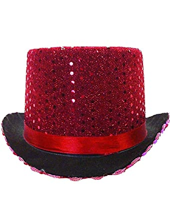 Image Unavailable. Image not available for. Color  Adult s Red Sequin  Butler Magician Top Hat Costume Accessory 84d324c3bdee
