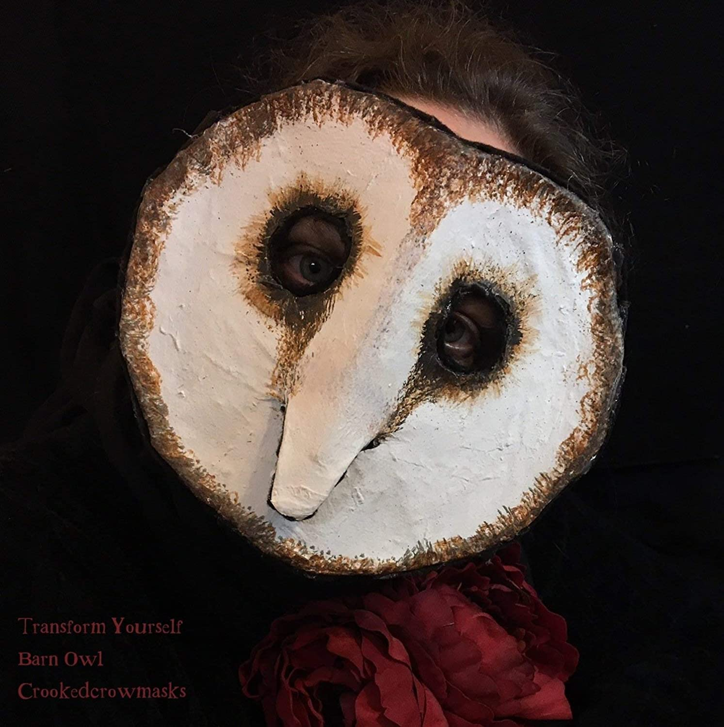 Barn Owl Mask, snowy owl mask, paper owl mask, paper mache owl mask, costume masquerade mask, white owl mask creepy mask, photo shoot mask.