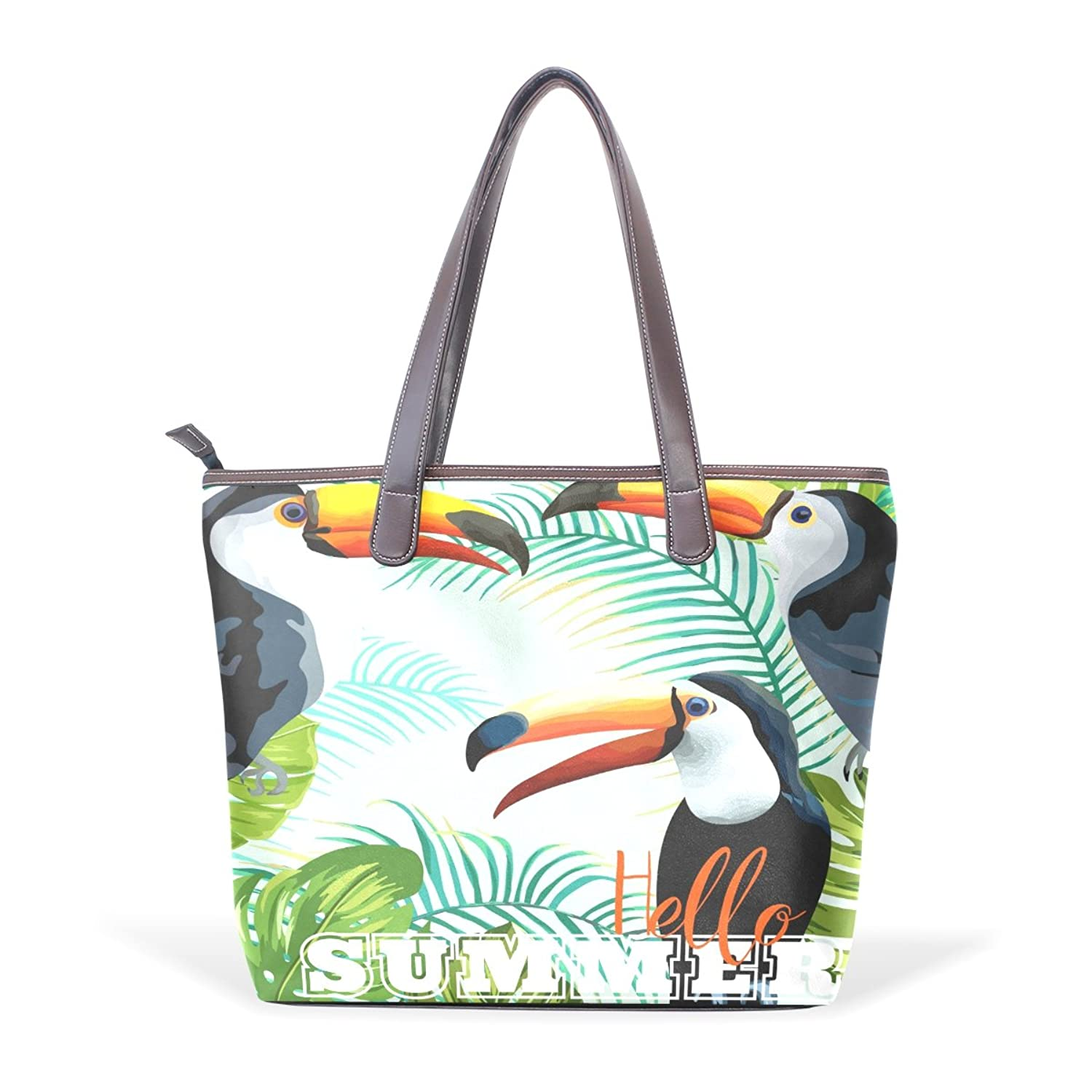 Mr.Weng Household Summer Toucan Lady Handbag Tote Bag Zipper Shoulder Bag