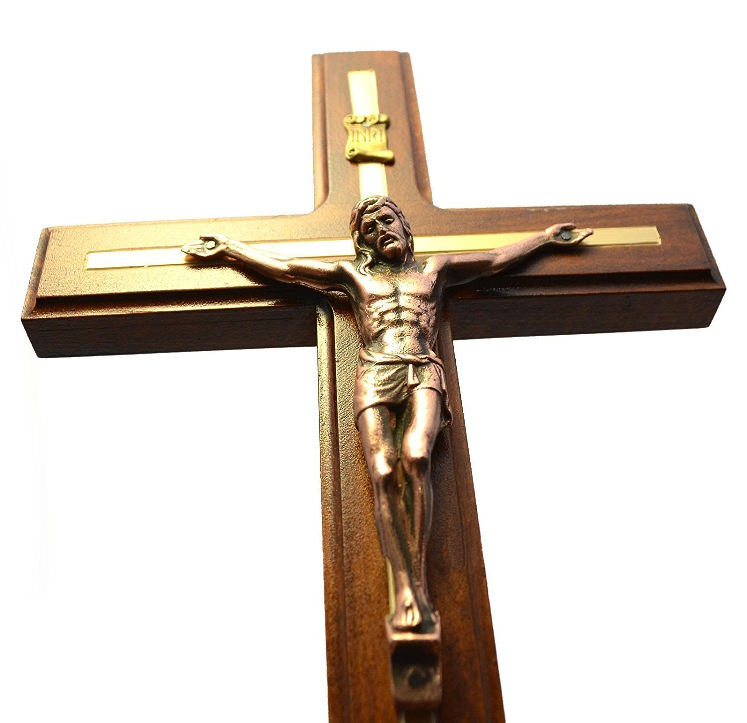 Handmade Wall Cross Wooden Catholic Wall Crucifix
