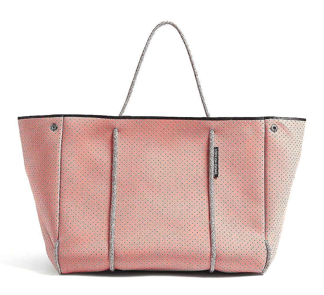 [ステイトオブエスケープ] ネオプレントートバッグ ポーチ付き Escape tote [並行輸入品] B07RRVTNKJ Bermuda pink/ピンク