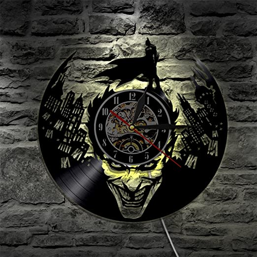 Batman LED Reloj de Pared Control Remoto Silencio Creativo ...