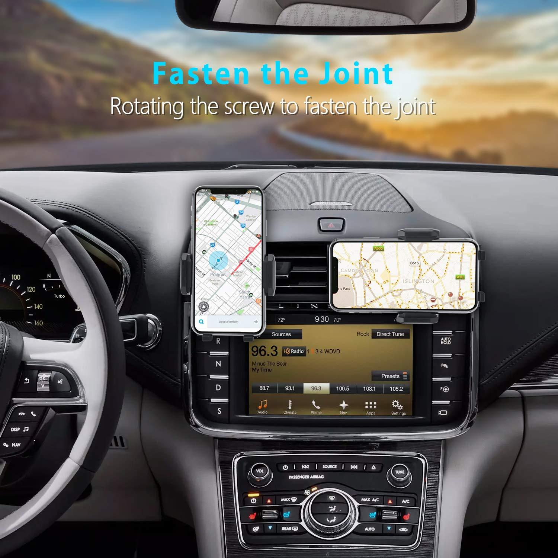 Soporte Celular Universal para Rejilla Ventilaci/ón con Rotaci/ón 360 Grados y Abrazadera Ajustable para iPhone XS MAX//XR//X Samsung S10//S9//S8 Huawei P30pro Foneso Soporte de Tel/éfono M/óvil para Coche