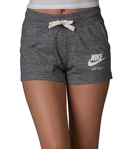 4705d803511 Nike Women's Sportswear Gym Vintage Short, Carbon Heather/Sail, Large