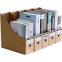 OFFIDIX Oficina 5 niveles Caja de almacenamiento de escritorio de papel Kraft A4 Organizador de papel de soporte de…
