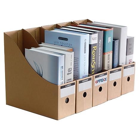OFFIDIX Oficina 5 niveles Caja de almacenamiento de escritorio de papel Kraft A4 Organizador de papel
