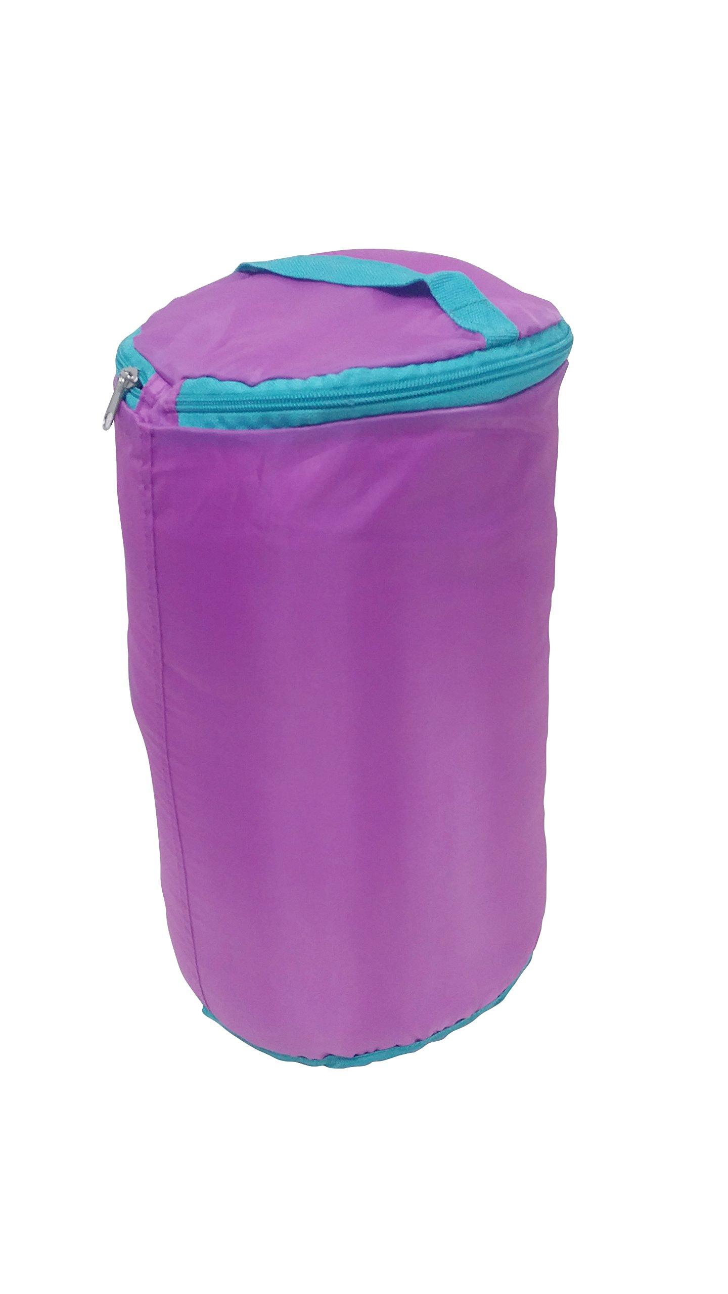 Ozark-Trail Kids Sleeping Bag Camping Indoor Outoor Traveling (Raccoon/Bear) (Purple,Teal) by Ozark-Trail (Image #2)