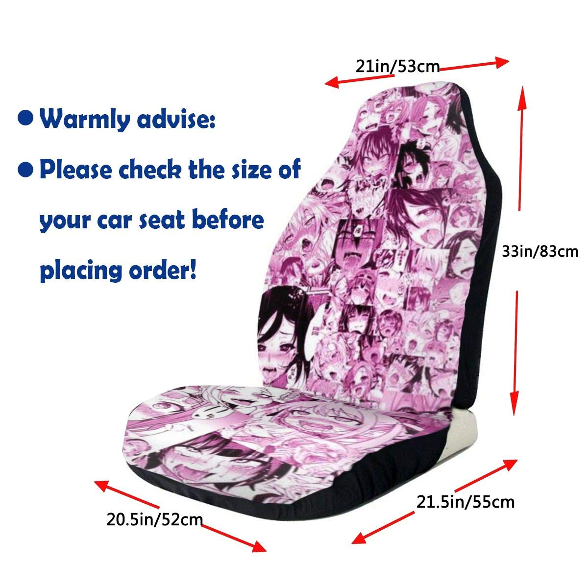 Truck Japan Pink Hentai Collage Printed Car Seat Covers Front Seats Fit Most Car SUV Or Van