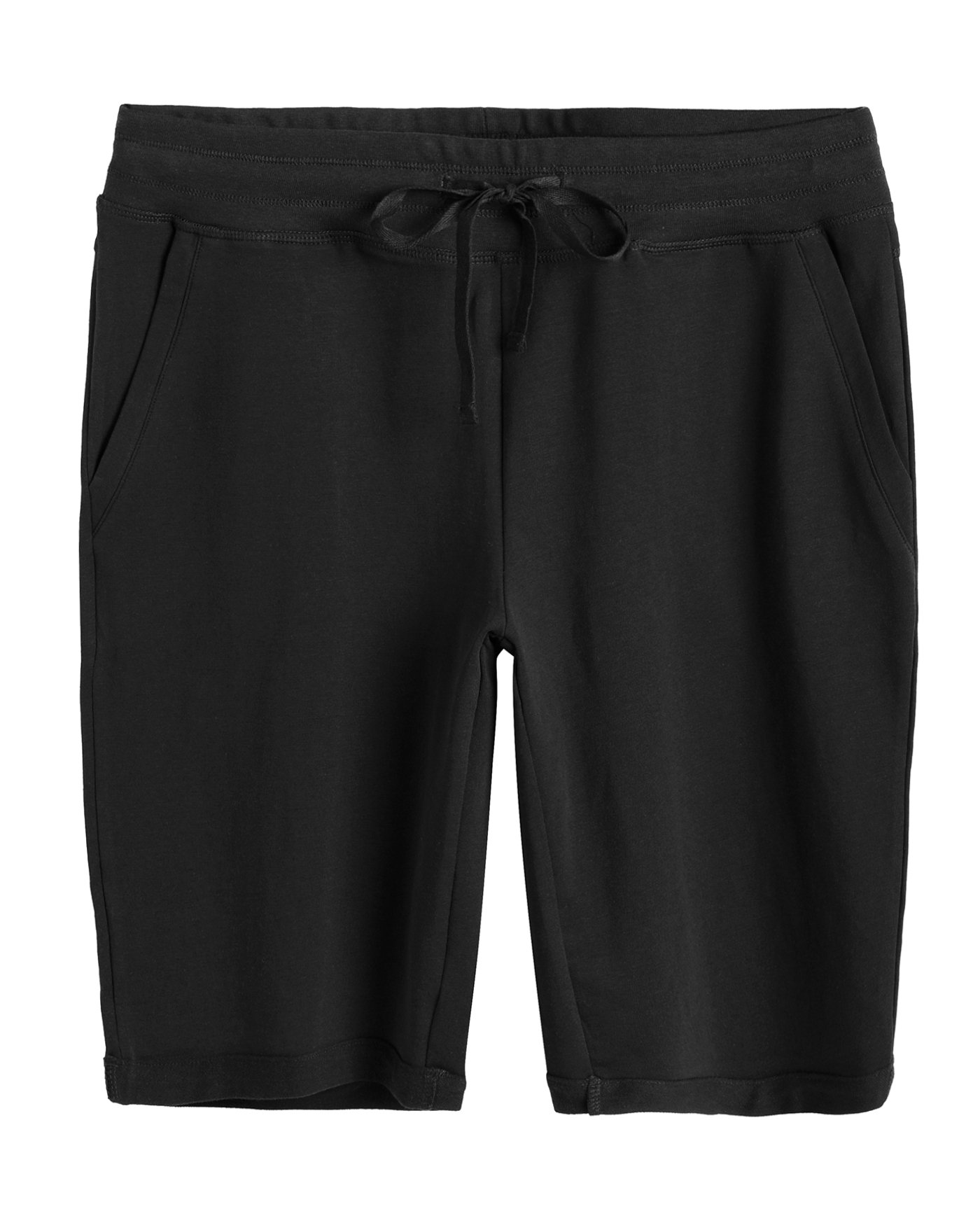 Weintee Women's Cotton Bermuda Shorts with Pockets 2X Black