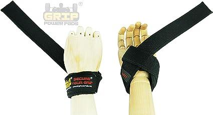Best Heavy Duty Lifting Straps Neoprene Padded Wrist Wraps /& Rubbery Grip Straps