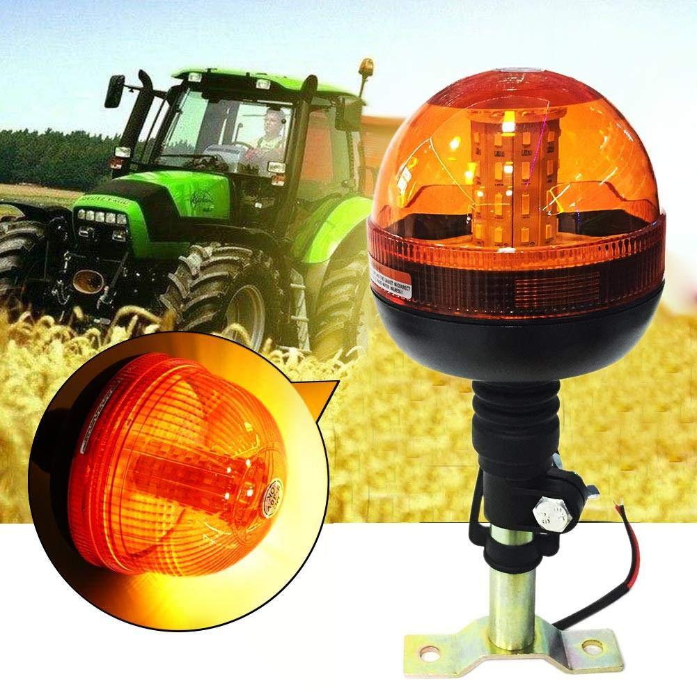 RUNGAO 40 LED lampeggiante di emergenza lampeggiante stroboscopico rotante luce trattore motore ambra